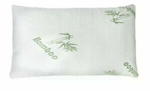 Cool Bamboo Pillow  Adjustable Shredded Memory Foam Pillow King or Queen