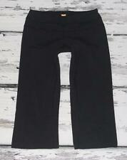 LUCY ACTIVEWEAR~BLACK~STRETCH *HATHA* GYM WORKOUT~YOGA TIGHTS CROP PANTS~S