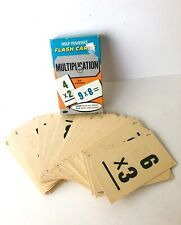1959 Vintage Help Yourself Multiplication Flash Cards by Whitman ~ No. 4743
