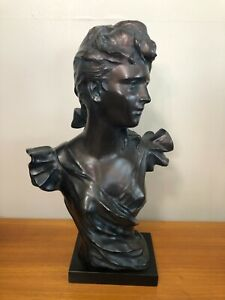 """Vintage Austin Productions 1983 Jeanette by George Coudray Sculpture, 22"""" Tall"""