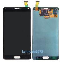 pantalla táctil lcd display Para Samsung Galaxy Note 4 SM-N910F N910C gris+cover