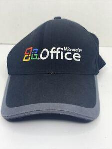 Black Microsoft Windows Office Logo Dad Cap Baseball Hat Port Authority PREOWNED