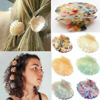 Simple Shell Hair Clip Acetate Resin Floral Print Clips Grips Ponytail Hairpins