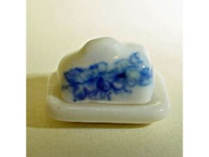 Dollhouse Miniature 1:24 Scale Blue and White China Cheese Dish - Imported