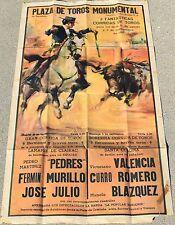 "Original vintage poster 21""w-38""h, Plaza de Toros Monumental, Barcelona ,Spain,"