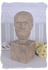 GRIECHISCHE BÜSTE ANTIKE PLATON KOPF ANTIKER PHILOSOPH REPLIKA