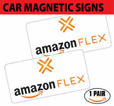 "(2 MAG) Amazon Flex Car Magnets VEHICLE SIGNS 6"" x 12"" FREE SHIPPING"