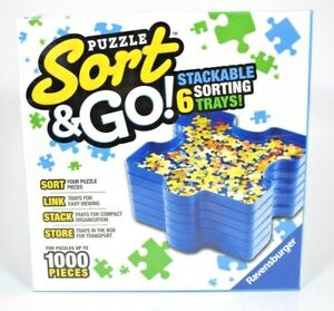 Ravensburger - Puzzle Sort & Go - 6 Stackable Sorting Trays New & Sealed