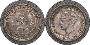 NEWFOUNDLAND 1947 5 Cents - George VI KM #19a