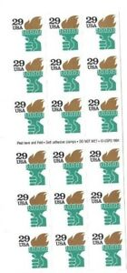 US Scott #2531Ab Booklet Pane Very Fine MNH Cat. Value $11.00           #717x