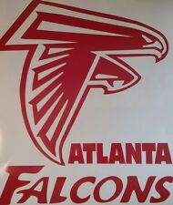 Atlanta Falcons Decal Set- 6pc CORNHOLE Board Decals Vinyl Sticker Window Decal