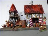 Mittelalter, Brauerei Erleni, auf Base 3128, zu 7cm Sammelfiguren, Fertigmodell