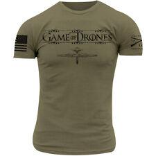Grunt estilo juego de drones Camiseta-Verde Oliva