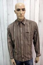 MARLBORO CLASSICS Taglia M Camicia Uomo Cotone Shirt Chemise Casual Manica Lunga