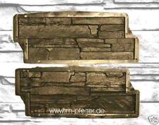 1 paar Giessformen Schieferstruktur 48 x19 cm, Wandverblender, Schablonen 310