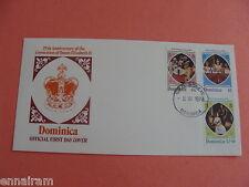Queen Elizabeth II Silver Jubilee FDC 25th Anniv Coronation Dominica 1978 #3