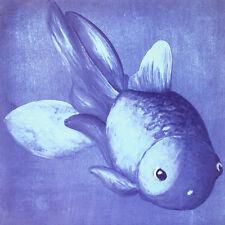 Blauer pez dorado póster son impresiones artísticas imagen 60x60cm
