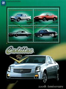 St. Vincent 2003 - SC# 3123 Cadillac, Eldorado, Car Auto - Sheet of 4 Stamps MNH