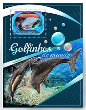 Guinea-Bissau 2016 MNH Dolphins 1v S/S Marine Animals Stamps