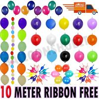 """5""""-10"""" Linking Balloons assorted quick link Chain Ballons birthday wedding party"""