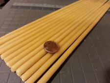 """100 Organic beeswax candles 1/4"""" X 8"""" Long hand dipped"""