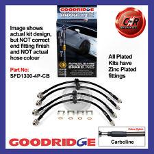 Ford Focus Mk2 st 05 Aufwärts Goodridge Verzinkt Carbon Bremsschläuche SFD1300