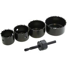5PC HOLE SAW SET DOWN LIGHT HOLE CUTTER CIRCULAR TOOTH SAW DRIVE ARBOR 32MM~54MM