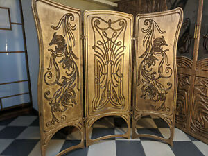 A&O Art Nouveau,  by Alphonse Mucha  Modern  Room Divider Folding Screen