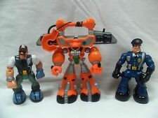 Lot of 3 Rescue Heroes Police Crane Man and Trooper
