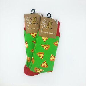 Pizza Socks,2 PAIR PACK,Novelty socks,Funky socks,Fancy socks