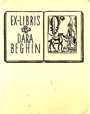 EX-LIBRIS de Dara BEGHIN par Victor Stuyvaert.