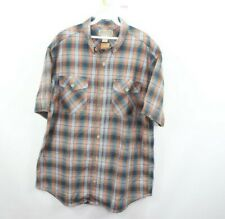 New Duluth Trading Co Mens Large Gusseted Short Sleeve Casual Plaid Shirt Cotton