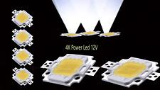 4X High Power 10W LED Chip 12V Hochleistungs 1000Lm kaltweiß warmweiß
