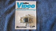 Recoton Video Four Way Splitter - V305 - New!!!!   (CA 13)