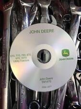 JOHN DEERE 670 770 790 870 970 1070 TRACTOR SERVICE REPAIR MANUAL CD TM1470