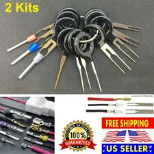 2 Kits Connector Pin Extractor Terminal Removal Tool Car Electrical Wiring Crimp