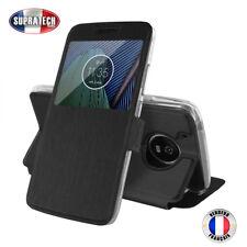 Etui Rabattable Noir Avec Ouverture Ecran pour Motorola Moto G5