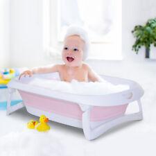 HOMCOM Bañera para Bebé Portátil y Segura Baño Ducha Niños Recién Nacido 0-3