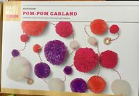 Pom Pom Garland Room Decor Party Large and Small Red Orange Purple White NEW