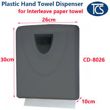 TCS NEW black plastic Compact Paper Towel Dispenser Interleave Hand Towel
