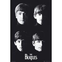 THE BEATLES B&W Poster - FACES Full Size Print - Lennon McCartney Harrison
