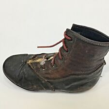 """Brown Leather High Top Lace Up Baby's Left Shoe, 4.75"""" Long"""