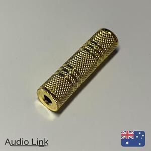 3.5mm Female to 3.5mm Female Audio Adapter Converter Coupler Joiner 4 Headphone