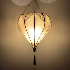 Orientalische Lampe Marokkanische Hennalampe Deckenleuchte Lederlampe XXL H 95cm
