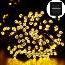 Weihnachtsdekoration 10m 100 LED Solar Warmweiß Lichterkette Party  Lechte-W