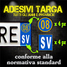 Adesivi Targa Provincia & Anno 2008 (4ant / 4post. sfondo trasparente) Auto&Moto