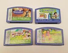 4 LeapFrog Leapster Learning Game Toy Story 3 Pet Pals Ratatouille Backyardigans