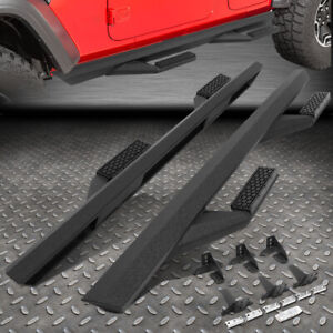 FOR 18-20 JEEP WRANGLER JL 4DR PAIR ALUMINUM SIDE ARM STEP BAR RUNNING BOARDS