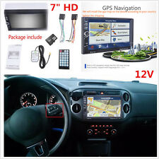 "7"" HD 12V Car Auto GPS Navigation 2 Din Car Bluetooth Stereo MP5 Player FM Radio"