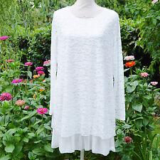 Tunique Robe Femme Grande Taille 44 46 48 dentelle blanc estelle ZAZA2CATS new